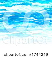 Poster, Art Print Of Abstract Painted Ocean Themed Background