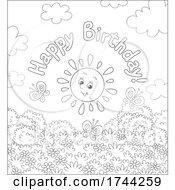 05/21/2021 - Happy Birthday Greeting Over A Sun