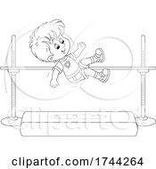 Boy Doing A High Jump