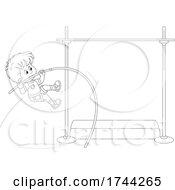 Boy Doing A Pole Vault