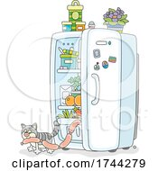 05/21/2021 - Cat Stealing Sausage From A Fridge