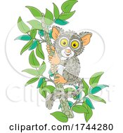 Cute Tarsier On A Branch by Alex Bannykh