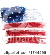 Painted American Flag Stars And Stripes