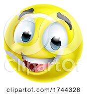 Tennis Ball Emoticon Face Emoji Cartoon Icon by AtStockIllustration