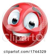 Cricket Ball Emoticon Face Emoji Cartoon Icon