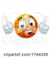 Basketball Ball Emoticon Face Emoji Cartoon Icon