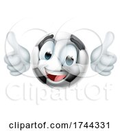 Soccer Ball Emoticon Face Emoji Cartoon Icon