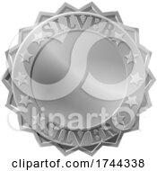 Metallic Silver Medal Rosette
