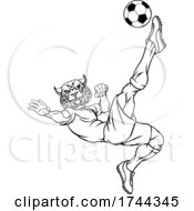Wildcat Soccer Football Player Sports Mascot by AtStockIllustration