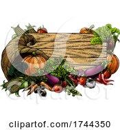 Poster, Art Print Of Horn Of Plenty Garden Vegetable Fresh Produce Sign