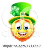 Poster, Art Print Of Leprechaun Emoticon Emoji Face Cartoon Icon