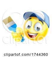 Poster, Art Print Of Painter Decorator Handyman Emoticon Emoji Icon