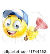Poster, Art Print Of Plumber Plunger Handyman Emoticon Emoji Icon