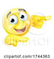 Poster, Art Print Of Pointing Emoticon Emoji Face Cartoon Icon