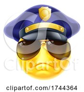 Poster, Art Print Of Angry Policeman Emoticon Emoji Face Cartoon Icon