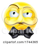 Poster, Art Print Of Arrogant Posh Snooty Emoticon Emoji Cartoon Icon