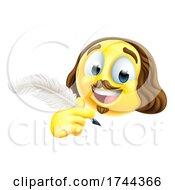 Shakespeare Poet Emoticon Emoji Cartoon Face Icon