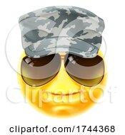 Poster, Art Print Of Army Soldier Emoticon Emoji Face Cartoon Icon
