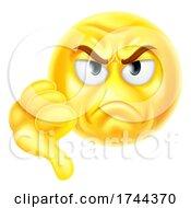Poster, Art Print Of Thumbs Down Dislike Emoticon Emoji Cartoon Icon