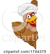 Poster, Art Print Of Chef Chicken Cartoon Rooster Cockerel Mascot Sign