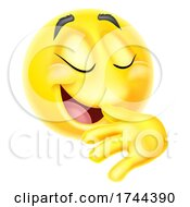 Proud Pleased Emoticon Emoji Face Cartoon Icon