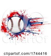 Baseball With American Stars And Grunge