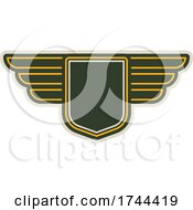 Poster, Art Print Of Winged Army Badges Emblems Insignias