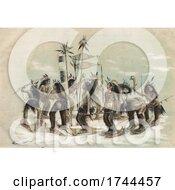 Poster, Art Print Of The Snow Shoe Dance