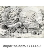 05/23/2021 - Ruffed Grouse Bonasa Umbellus In The Snow