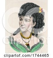 05/22/2021 - Portrait Of A Black Haired Irish Beaty With A Butterfly In Her Hair