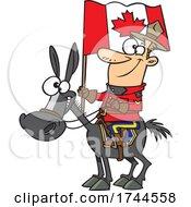 Cartoon Mountie On Horseback
