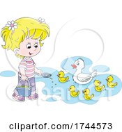 05/25/2021 - Girl Feeding Ducks