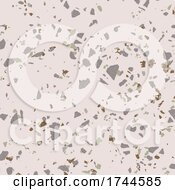Abstract Background With Terazzo Stone Design