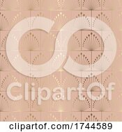 Art Deco Style Seamless Tiled Pattern Background