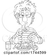 Man Eating A Meal