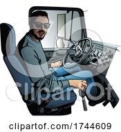 05/28/2021 - Trucker Sitting At The Wheel