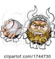 Poster, Art Print Of Viking Baseball Ball Sports Mascot Cartoon