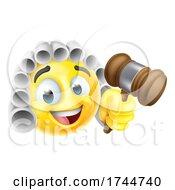 Poster, Art Print Of Court Judge Cartoon Emoticon Emoji Icon Face