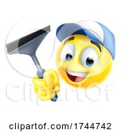 Poster, Art Print Of Window Cleaning Car Wash Squeegee Emoticon Icon