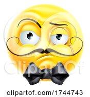 Poster, Art Print Of Arrogant Posh Snooty Gentleman Emoticon Emoji Icon