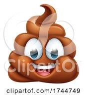 Poster, Art Print Of Happy Poop Poo Emoticon Poomoji Emoji Icon