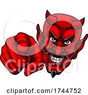 Devil Satan Pointing Finger At You Mascot Cartoon