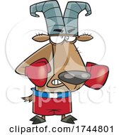 Cartoon Boxing Goat