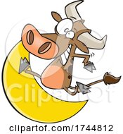 Cartoon Cow Jumping Over The Moon