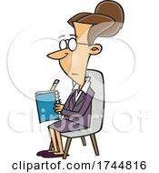 Cartoon Female Psychiatrist Taking Notes