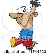 Cartoon Happy Man Walking