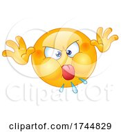 Angry Emoji Emoticon Sticking Its Tongue Out And Making A Childish Funny Face