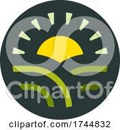 Round Rural Farming Agricultural Logo by elena