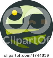 Poster, Art Print Of Round Rural Farming Agricultural Logo