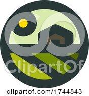 Round Rural Farming Agricultural Logo